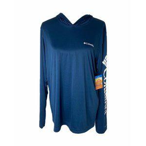 ~Men's medium Columbia rapid creek hooded shirt